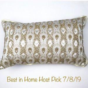 Pier 1 | Gold Shimmer Beaded Accent Pillow